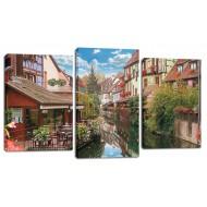 ЦветыМодульные картины из 3 частей 55x100 см - Модульная картина МТ175 (55х100)