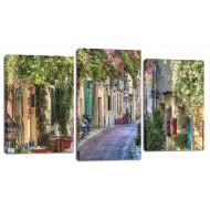 ЦветыМодульные картины из 3 частей 55x100 см - Модульная картина арт. МТ178