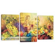 ЦветыМодульные картины из 3 частей 55x100 см - Модульная картина арт. МТ184