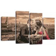 ГородаМодульные картины из 4 частей 82x125 см - Модульная картина арт. ЧМ213