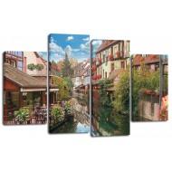 ГородаМодульные картины из 4 частей 82x125 см - Модульная картина арт. ЧМ220