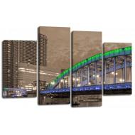 ГородаМодульные картины из 4 частей 82x125 см - Модульная картина арт. ЧМ222