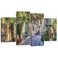 ГородаМодульные картины из 4 частей 82x125 см - Модульная картина арт. ЧМ223
