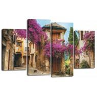 ГородаМодульные картины из 4 частей 82x125 см - Модульная картина арт. ЧМ224