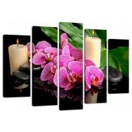 """Картина-сувенир - Модульная картина арт.3 """"Орхидеи"""""""