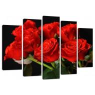 """Картина-сувенир - Модульная картина арт.4 """"Красные розы"""""""