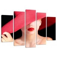 "Картина-сувенир - Модульная картина арт.47 ""Девушка в шляпе"""