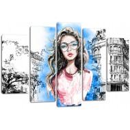 Города - Модульная картина арт. 826