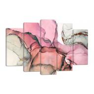 АбстракцияМодульные картины из 5 частей 82x135 см - Модульная картина арт. 894