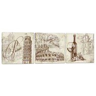 Города - Модульная картина арт.17 (40x115)