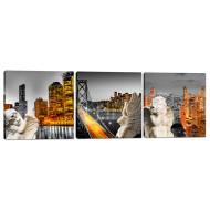 Города - Модульная картина арт.18 (40x115)