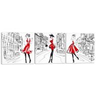 Модульные картиныМодульные картины 3х шт - 40x115 - Модульная картина арт.24 (40x115)