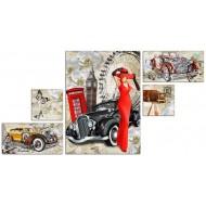 Картины на холстеКартины на холсте Города - модуль компакт арт. с15