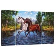 ЦветыМодульные картины из 3 частей 80x50 см - Модульная картина TRP961 (80x50)