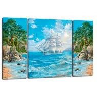 ЦветыМодульные картины из 3 частей 80x50 см - Модульная картина TRP963 (80x50)