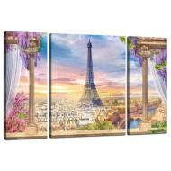 ЦветыМодульные картины из 3 частей 80x50 см - Модульная картина TRP971 (80x50)