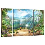 ЦветыМодульные картины из 3 частей 80x50 см - Модульная картина TRP972 (80x50)