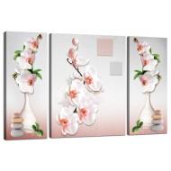 ЦветыМодульные картины из 3 частей 80x50 см - Модульная картина TRP973 (80x50)