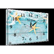 Картина-сувенир - Часы - картина под стеклом №64