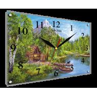 Природа - Часы - картина под стеклом К767