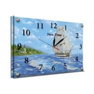 Море - Часы - картина под стеклом К776