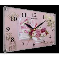Часы-картинаЧасы-картина Часы 25х35 под стеклом - Часы - картина под стеклом К864