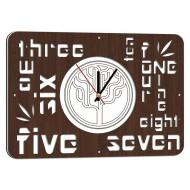 Картина-сувенир - Часы 25x35 арт. 4 (венге)