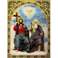 Купить оптом иконы и гобелены - Святая троица_gobelen 25x30