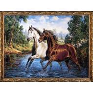 ИконыГобелен в раме - Картина из гобелена K665 60х80