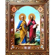 ИконыИконы в раме 3см - Св. Павел и Св. Петр_20x25