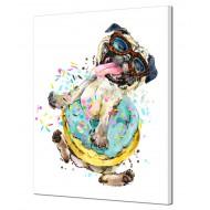 Картины на холстеКартины на холсте Абстракция - Картина на холсте (канвас) KH833