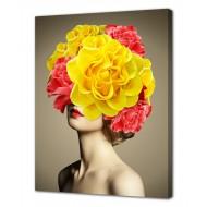 Репродукции Репродукции  Цветы - Картина на холсте (канвас) KH1018