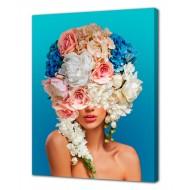 Репродукции Репродукции  Цветы - Картина на холсте (канвас) KH1019