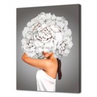 Репродукции Репродукции  Цветы - Картина на холсте (канвас) KH1021