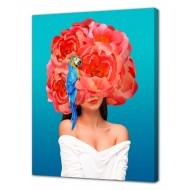 Репродукции Репродукции  Цветы - Картина на холсте (канвас) KH1024