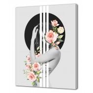 Репродукции Репродукции  Цветы - Картина на холсте (канвас) KH1027