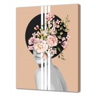Репродукции Репродукции  Цветы - Картина на холсте (канвас) KH1030