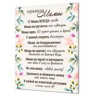 ЦветыЦветы Абстракция - Картина на холсте (канвас) KH975