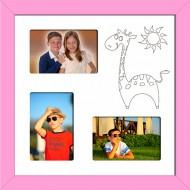 ФоторамкиФоторамки Детские мультирамки - D3-4(pink)_37x37