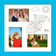 ФоторамкиФоторамки Детские мультирамки - D3-5(blue)_37x37