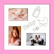 ФоторамкиФоторамки Детские мультирамки - D3-6(pink)_37x37
