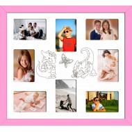 ФоторамкиФоторамки Детские мультирамки - D8-3(pink)_55x50
