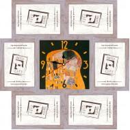 ФоторамкиФоторамки-коллажи, наборы - Фоторамка - коллаж + часы f26 - МДФ беж