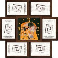 ФоторамкиФоторамки наборы из 6шт + часы - Фоторамка - коллаж + часы f26 - МДФ кор