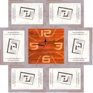 ФоторамкиФоторамки-коллажи, наборы - Фоторамка - коллаж + часы f28 - МДФ беж