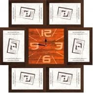 ФоторамкиФоторамки-коллажи, наборы - Фоторамка - коллаж + часы f28 - МДФ кор