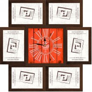 ФоторамкиФоторамки наборы из 6шт + часы - Фоторамка - коллаж + часы f5 - МДФ кор
