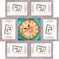 ФоторамкиФоторамки-коллажи, наборы - Фоторамка - коллаж + часы f6 - МДФ беж