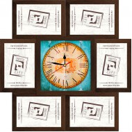 ФоторамкиФоторамки-коллажи, наборы - Фоторамка - коллаж + часы f6 - МДФ кор