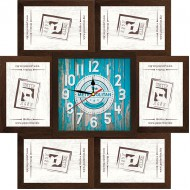 ФоторамкиФоторамки наборы из 6шт + часы - Фоторамка - коллаж + часы f7 - МДФ кор